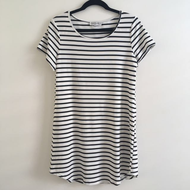 BN cute showpo striped t-shirt dress
