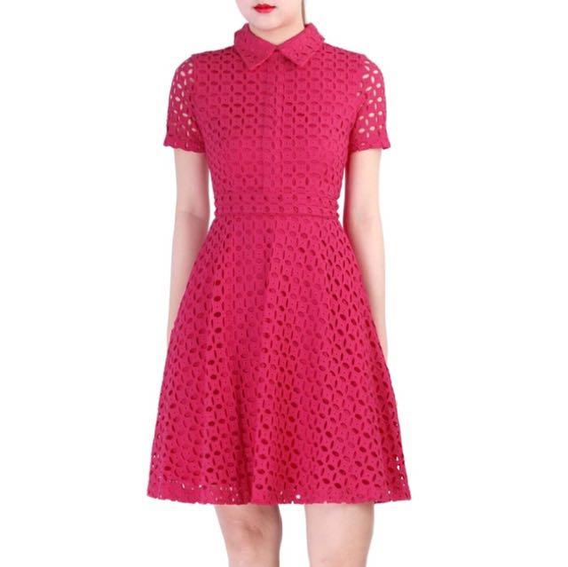ca18f34456c BNWT  Red Eyelet Dress