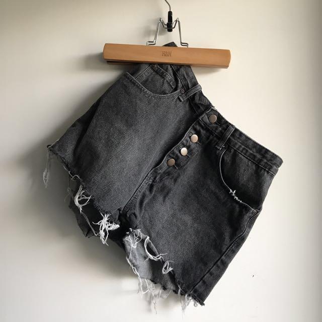 Boohoo Shorts- Distressed