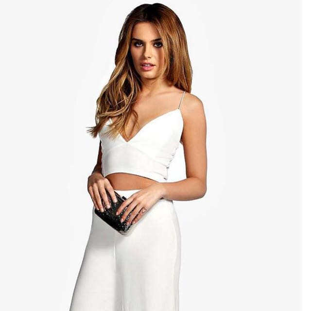 BRALET AND PALAZZO TROUSERS SET