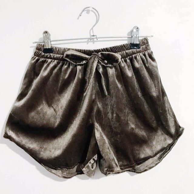 Brand New Velvet Shorts Free Size