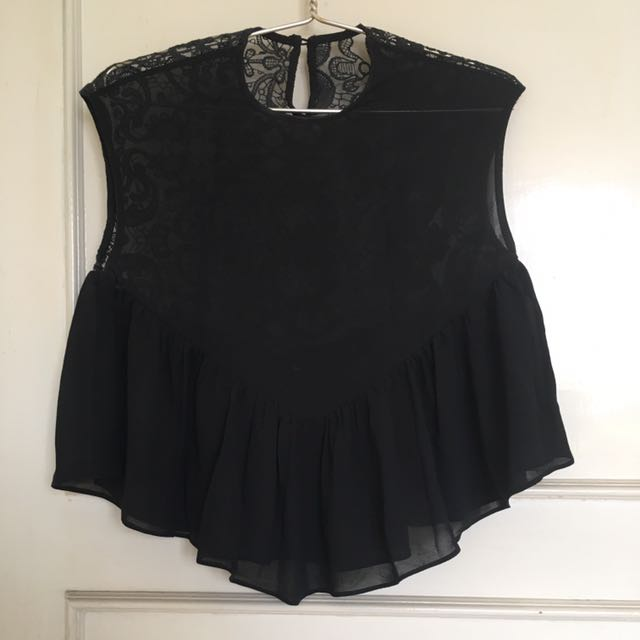 Brokat black top
