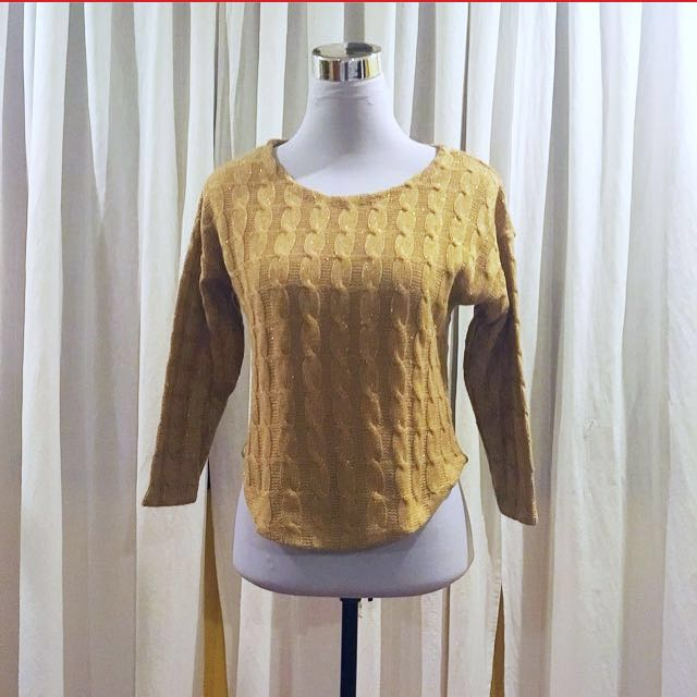 Brown and Gold Sweater