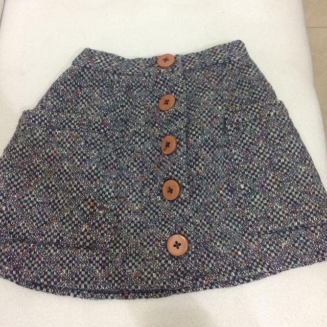 Button Down Gray Skirt