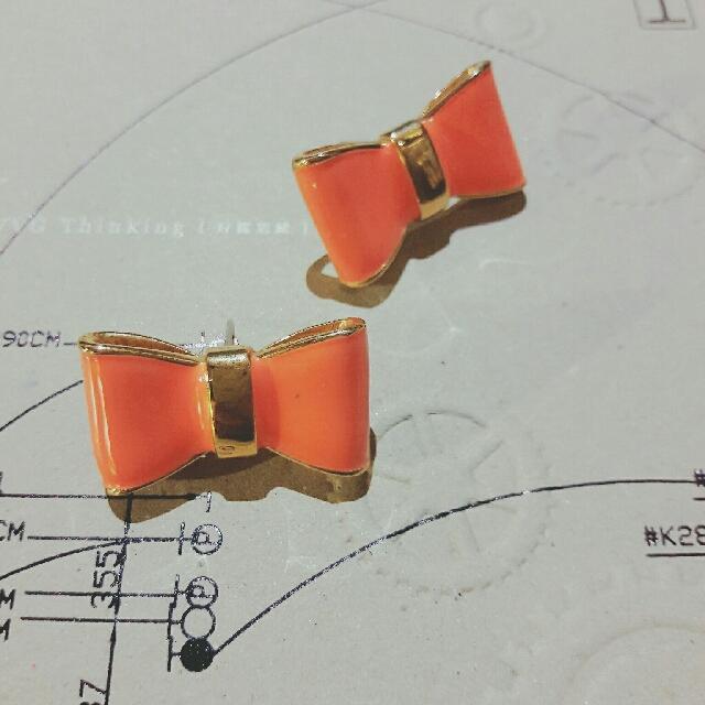 CAGE】蝴蝶結立體耳環