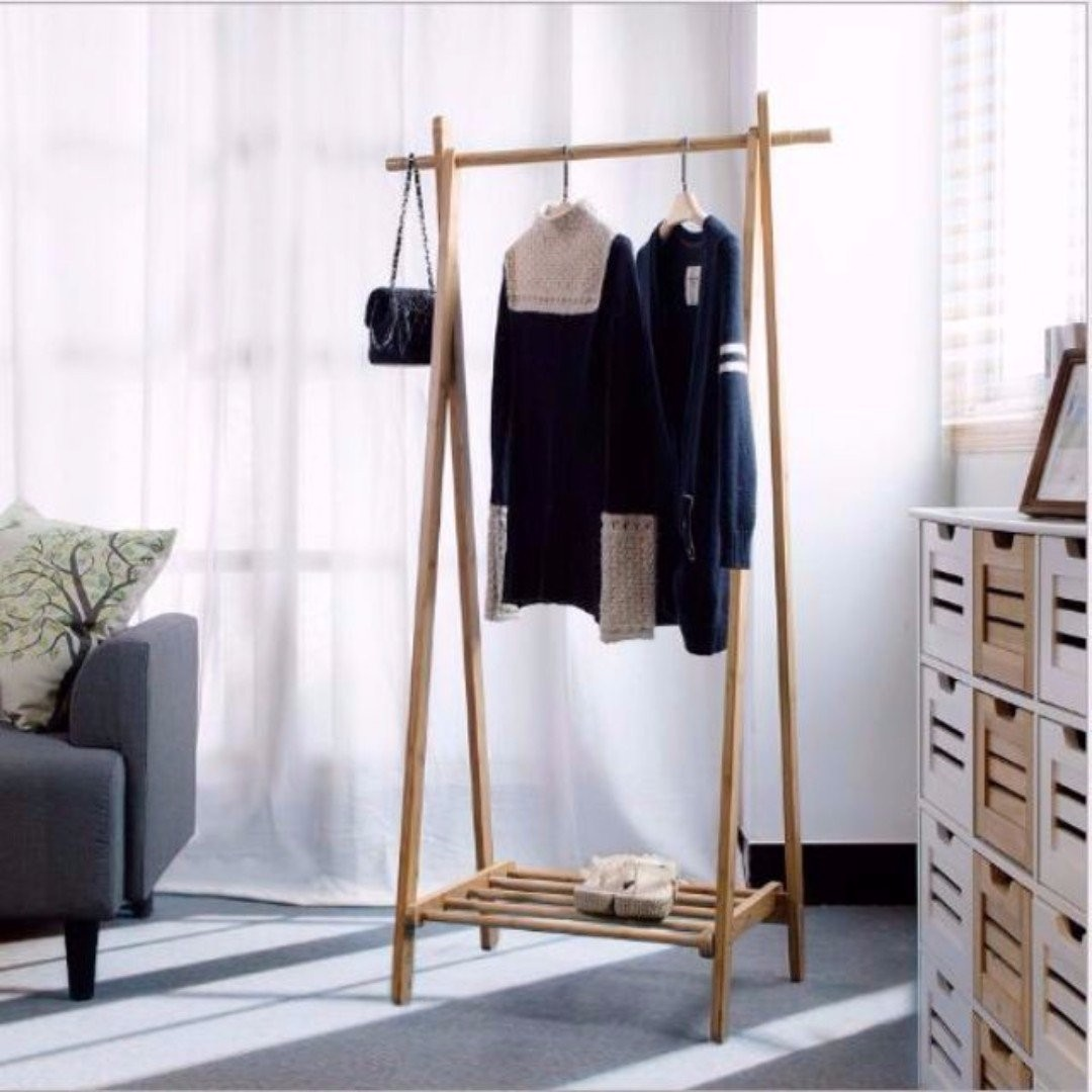 stand portable wardrobe garment black hanging clothes rail double rack adjustable itm