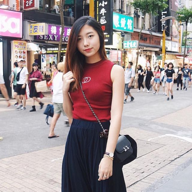 Chanel Rajut In Red