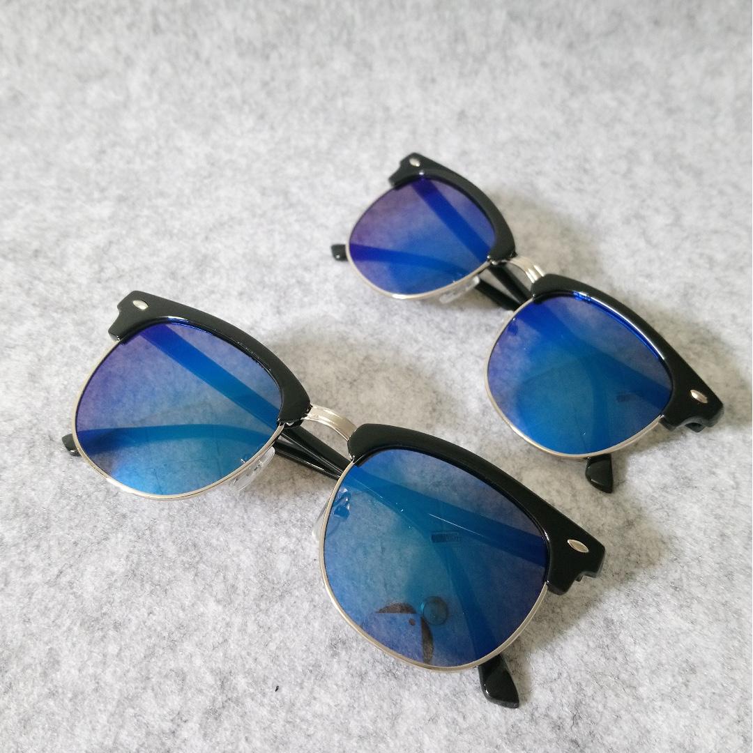Club Mirror Sunglasses-Blue