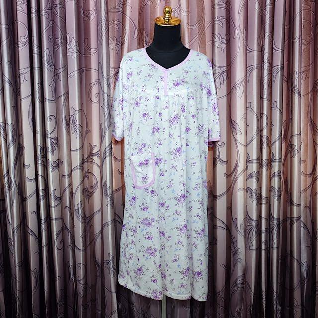 Daster dress floral purple