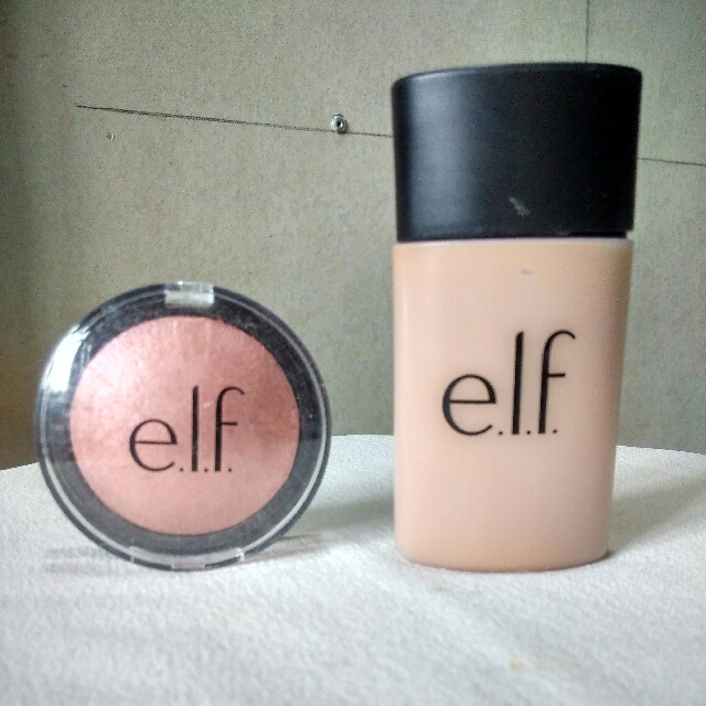 ELF BUNDLE: Highlighter in Pink Diamond and Acne Fighting Foundation in Sand