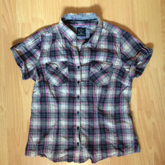 Faded Glory Checkered Polo
