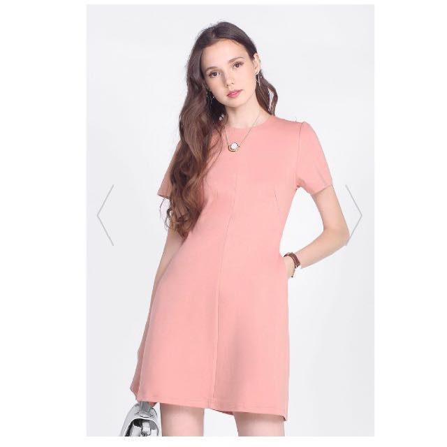 0314d0910d81 Fayth Chenery Work Dress Blush Nude, Women's Fashion, Clothes ...