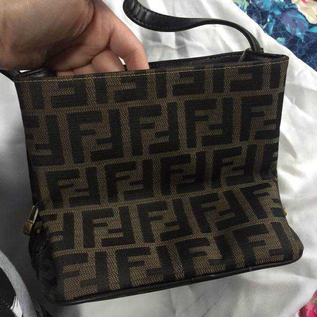 Fendi square handbag