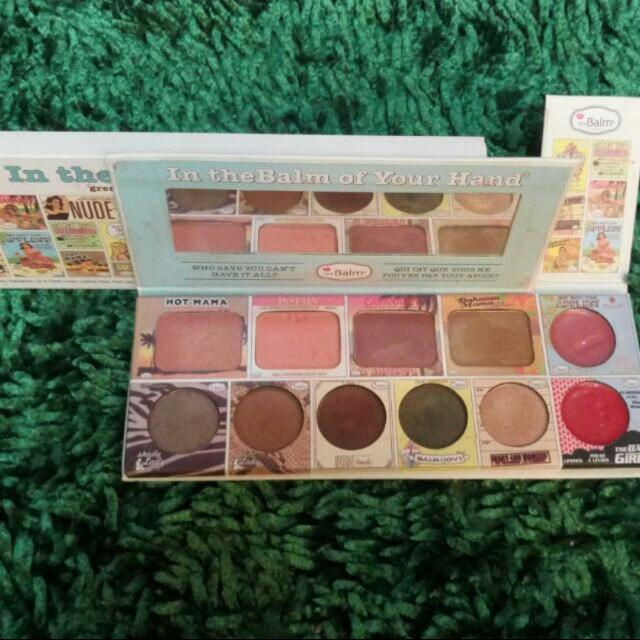 (Subsidi ONGKIR 10ribu) Palette The Balm In Your Hands Free Gift di list / Kerudung