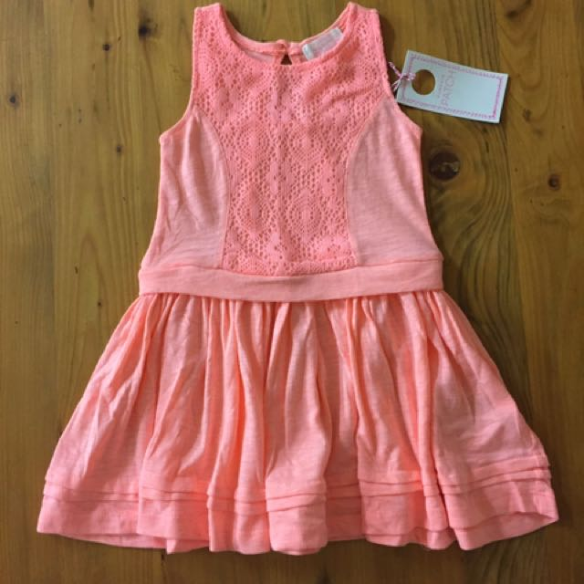 Girls lace trim summer dress - Size 12-18 mths