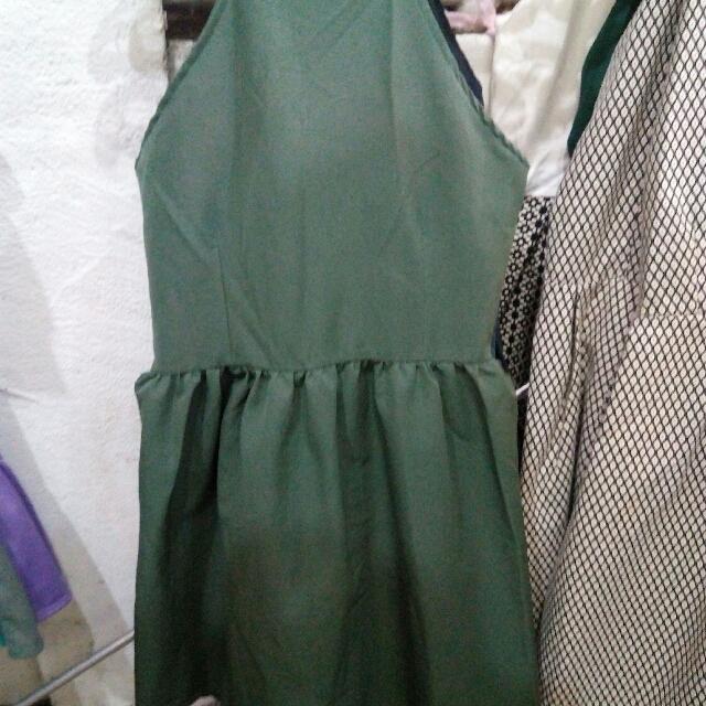 Halter Ruffles Dress