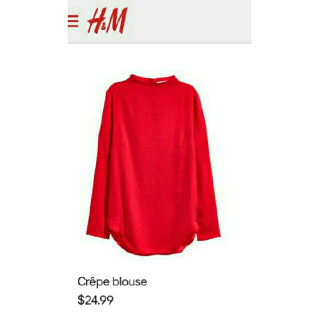 H&M Crepe Blouse - Red
