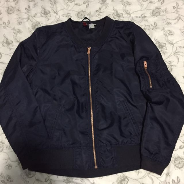 H&M Navy Bomber Jacket
