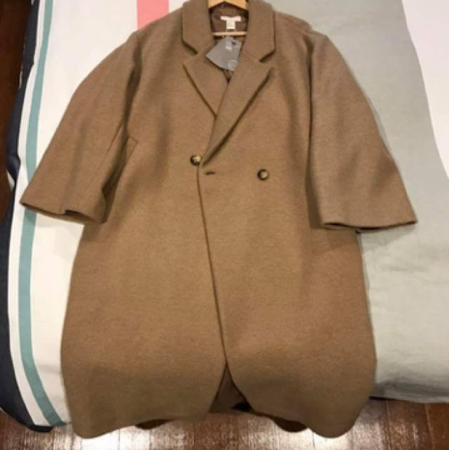 H&M pure wool coat jacket size 10