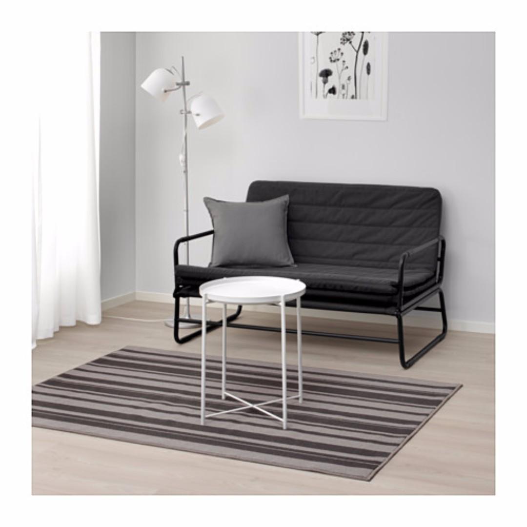 Ikea Ibsted Karpet Bulu Tipis Uk 180×120 Cm Warna Abu Abu  # Meuble Tele Au Mur Ikea