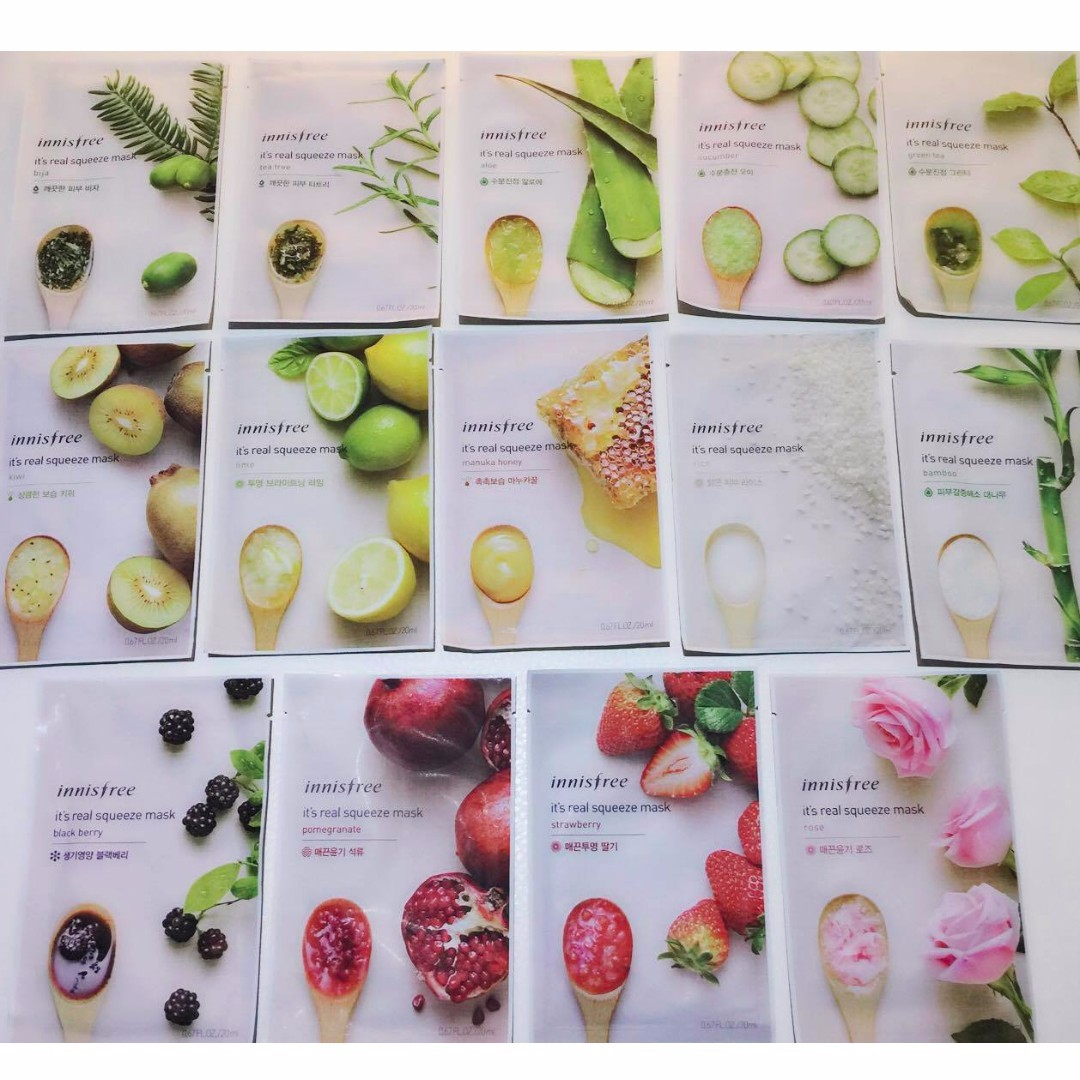 Innisfree Its Real Squeeze Face Mask Health Beauty Skin Bath Black Berry Body On Carousell