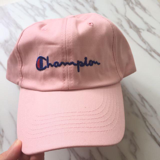 900b91f8f41 INSTOCK unisex champion pink iconic vintage logo baseball cap hat ...