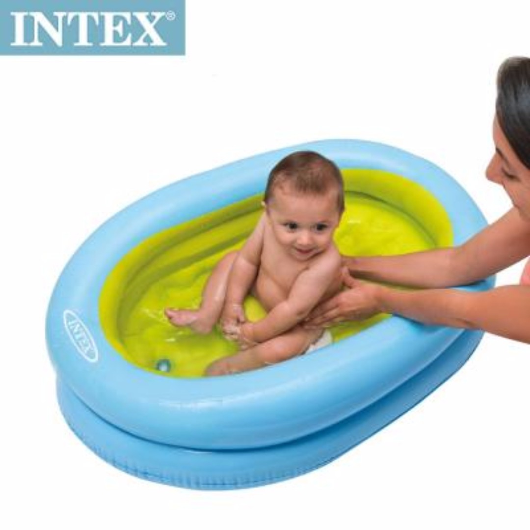 INTEX Baby Bath Tub with Air Pump, Babies & Kids, Others on Carousell