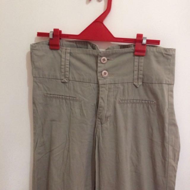 Kashieca Khaki wide-leg Pants