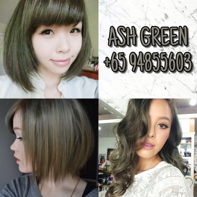 Korea Hair Dye Ash Green Womens Fashion Bags Wallets On Carousell