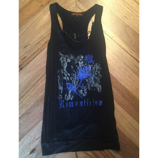 Lee Riders Black Tank Top Size 10