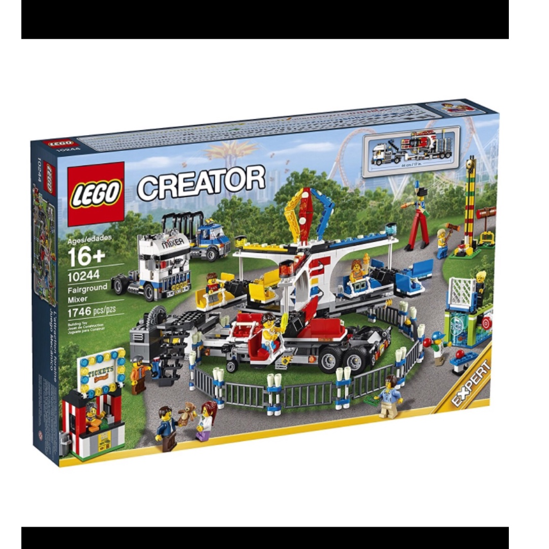 Lego Creator Expert 10244 Fairground Mixer New In Sealed Box With