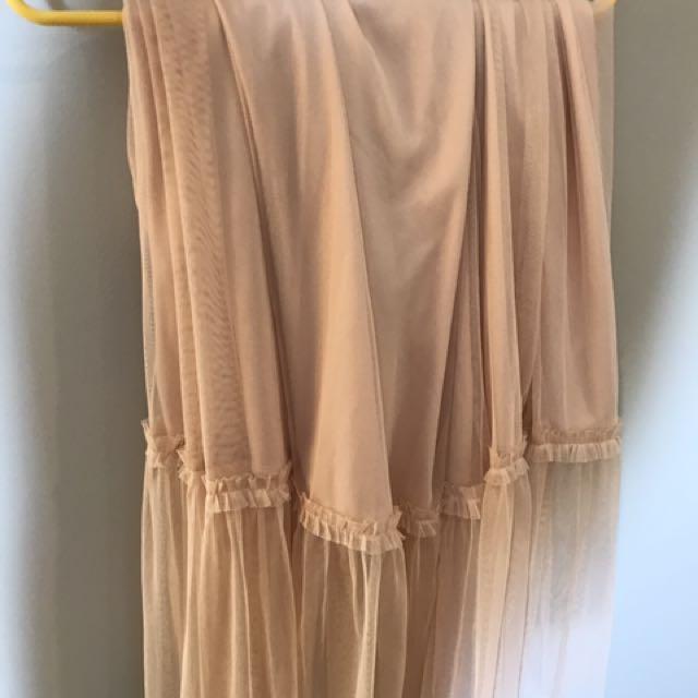 long tulle skirt