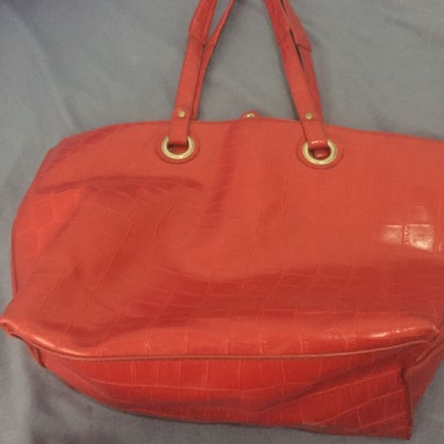 Marie Claire Red Tote Bag