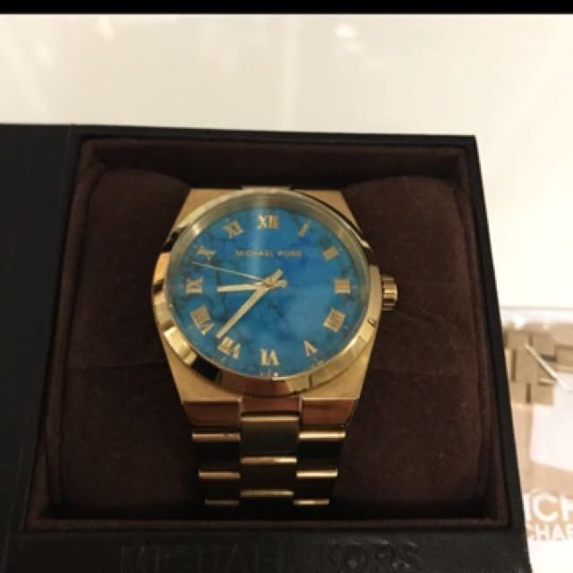 MICHAEL KORS MARBEL TURQUOISE WATCH