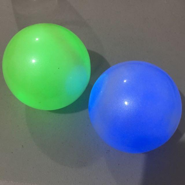 Multi-colored LED light ball.