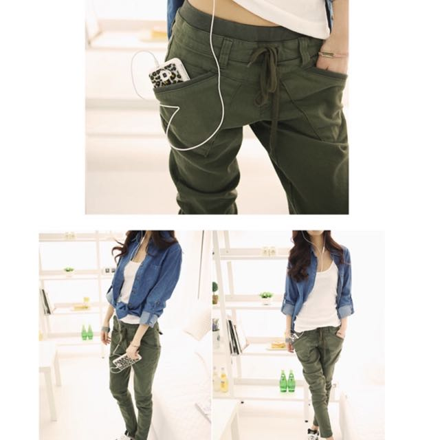 3296d3e705d New 2017 spring women s harem pants loose casual solid color high ...