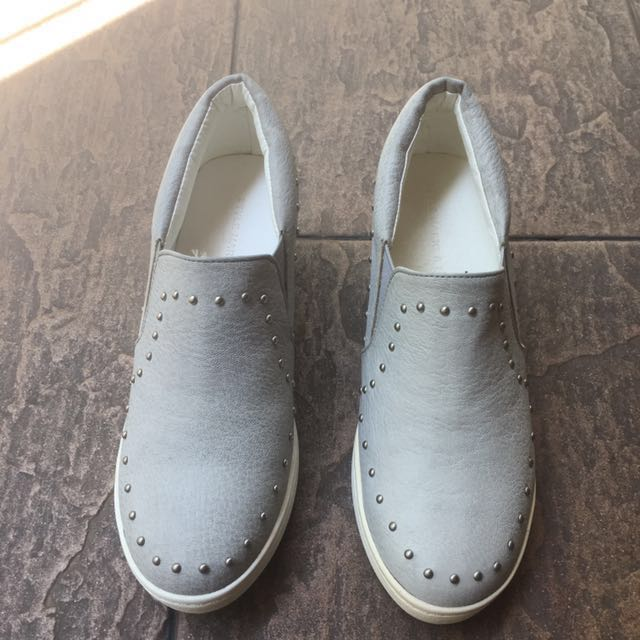 NEW! Light Grey Korean Shoes