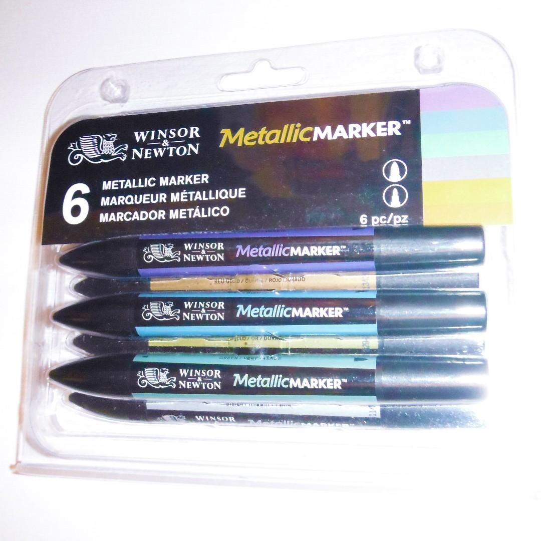 NEW Winsor & Newton Metallic marker set