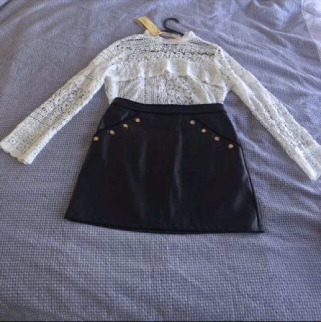 NEW with tags lace top size 10