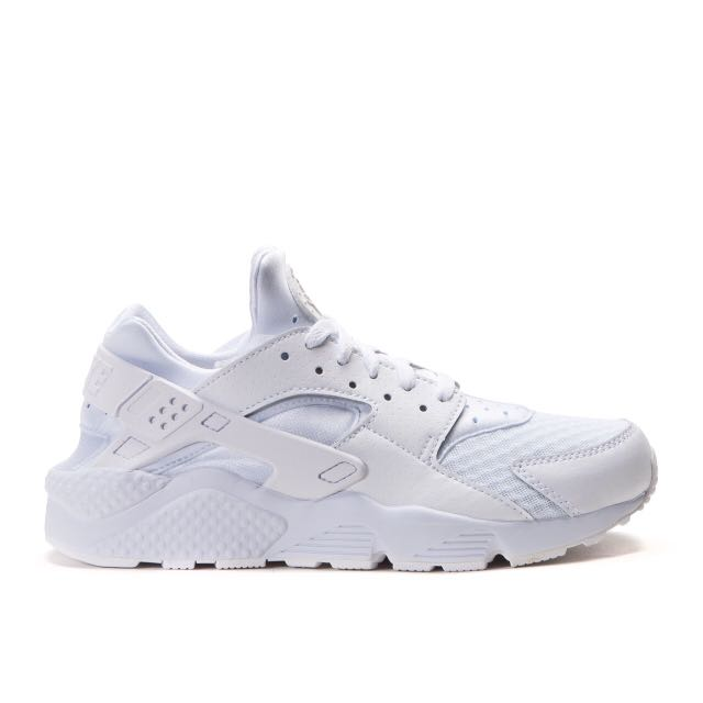 Nike Air Huarache 女子大童鞋武士跑鞋 (白)654275-110 (2900元) sz4、4.5、5、5.5、6、7出清