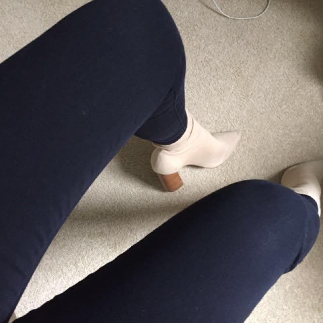 Nobody denim cult crop skinny jeans in power blue