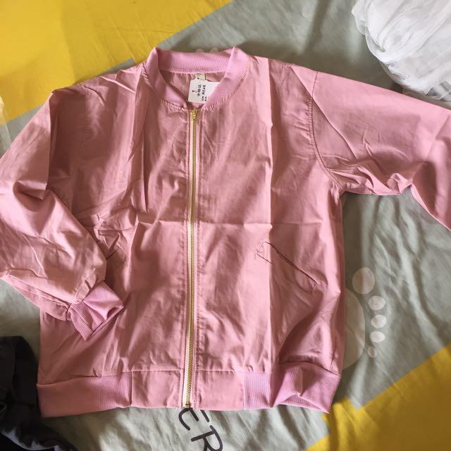 (FREE POS) Pink Bomber Jacket