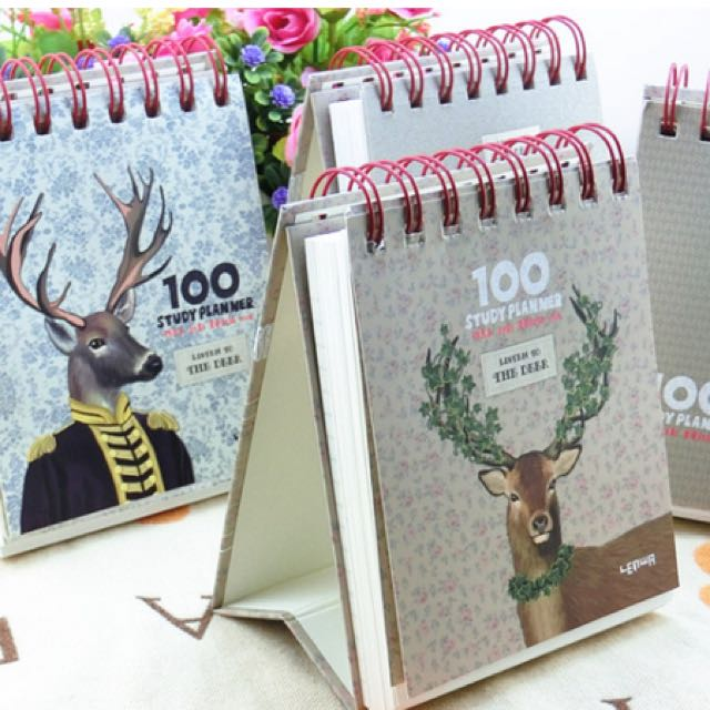 Planner 100 Hari Motif Rusa / Jadwal Harian
