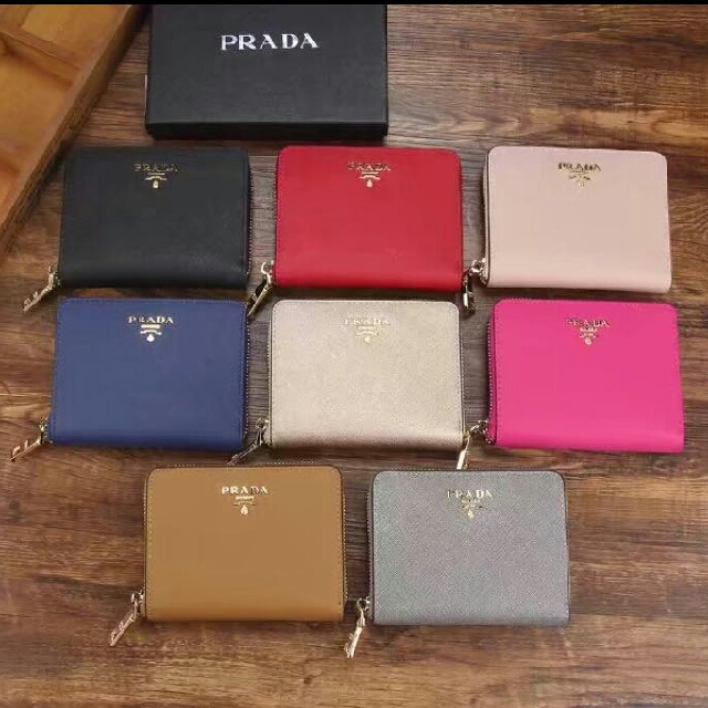 a25c688cdca425 ... promo code for po prada saffiano leather zip around short wallet full  set with box bulletin