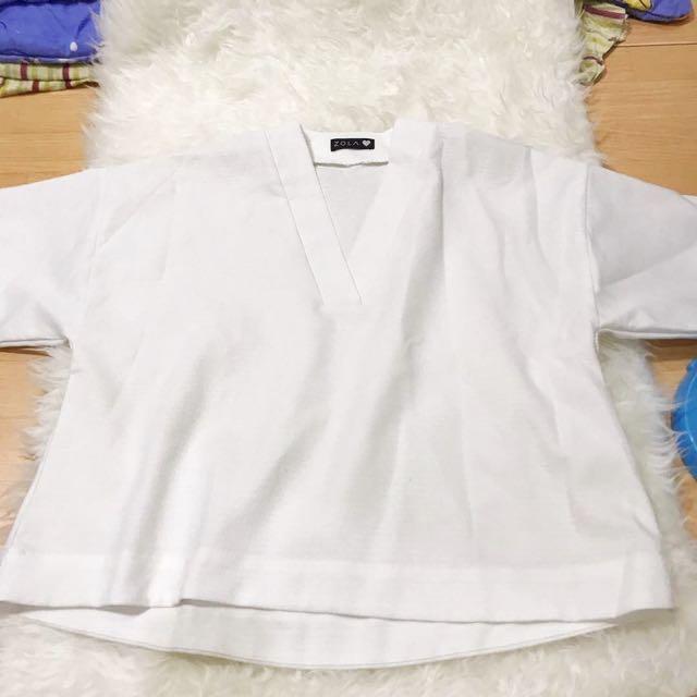 Preloved Kimono Top In White