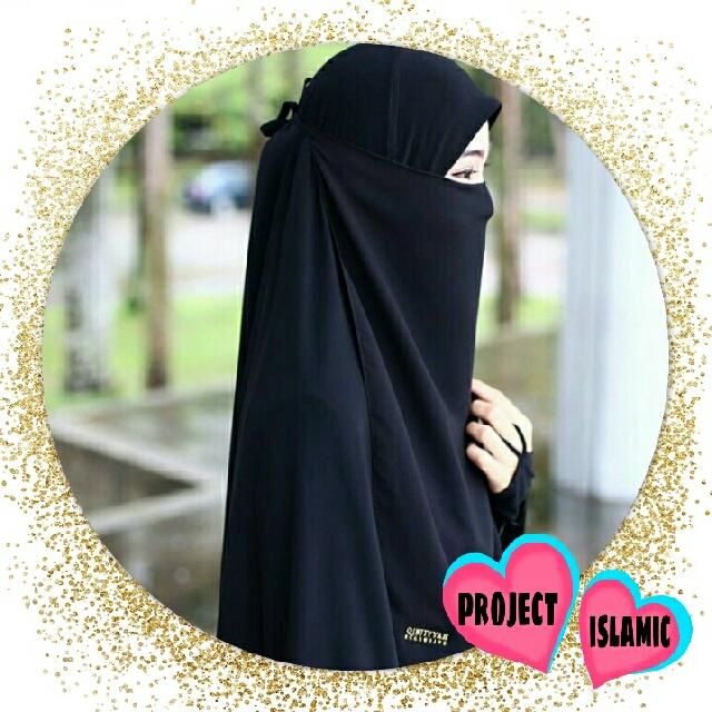 purdah half rayna muslimah fashion on carousell