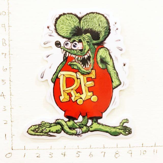 Rat fink 老鼠 防水貼紙 買五送一