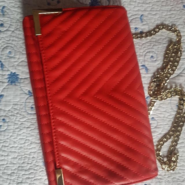 Red Aldo bag