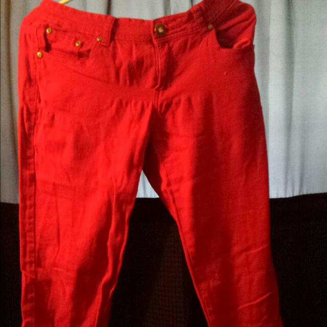 Red Jeans Size 11