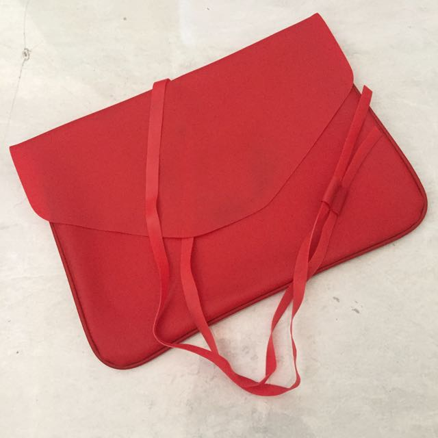 Red rubber pouch / clutch